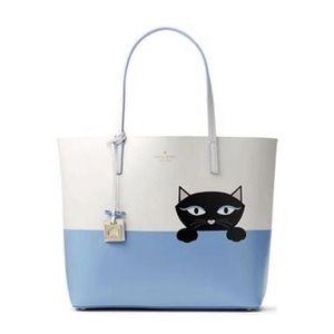 Kate Spade Little Len Kitty Cat Tote Bag Purse